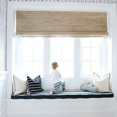 Watching diggers alllll morning! I've been dreaming up this window seat in Liam's room since it was drawn in our house plans! @stephaniejeandesign helped me bring it to life with this custom bench cushion and perfect styling, isn't it gorgeous!!? | Details: @liketoknow.it www.liketk.it/1Zd3S #liketkit #MHhomebuild