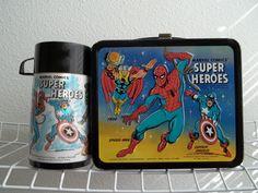 1976 marvel comics lunch box
