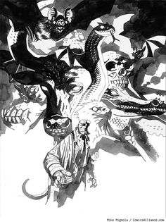 Exclusive Mike Mignola Artwork from 'Hellboy Library Edition' Vol. 4 [Art]