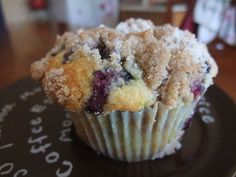 Meyer Lemon Blueberry Muffins with Streusel Topping by swampkitty, via Flickr