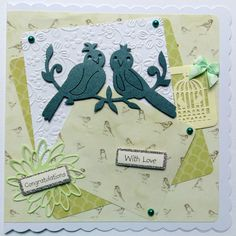 Bespoke birthday card made for 70yr old bird enthusiast - who also likes green!!