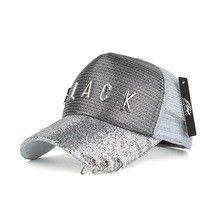0034f71e75b Joymay 2017 Spring New Mesh Baseball cap BLACK metal badge Adjustable  Fashion Leisure Casual Snapback