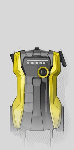 Original_pearl_creative_product_design_kaercher_k3000_follow-me_pressure-washer_sketch_top_view