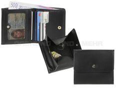 Esquire HARRY 49 - Leder Schachtelbörse Wiener Schachtel Geldbörse (6KF) mit RFID Schutz - schwarz