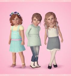sims 3 cc toddler hair - Google Search