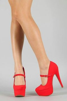 red stiletto high heels pumps women shoes fashion http://www.womans-heaven.com/red-stiletto-heels/