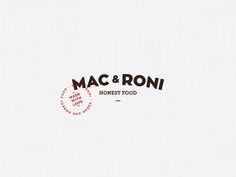 Mac'n'Roni Logo by Guilherme Lepca on Dribbble Food Branding, Restaurant Branding, Branding Design, Logo Design, Graphic Design, Typography Logo, Logos, Mac Make, Animal Logo