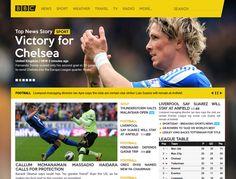 BBC Sports Website Concept by Alejo Malia, via Behance