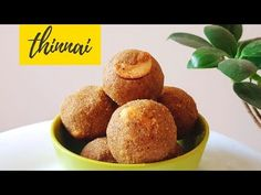 Healthy Green gram laddu recipe in Tamil. This is a traditional south indian sweet recipe which prepared from whole moong dal, jaggery. Recipe Videos, Food Videos, Millet Recipes, Recipes In Tamil, Lunch Menu, Food Festival, Diwali, Cornbread, Sweet Recipes