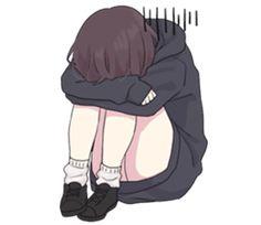 Menhera little girl. 2 EN – LINE stickers Dibujos Anime Chibi, Cute Anime Chibi, Cute Anime Pics, Anime Neko, Sad Anime Girl, Kawaii Anime Girl, Anime Art Girl, Manga Girl, Oc Manga