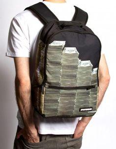Money Stacks Backpack by Sprayground - Funny!