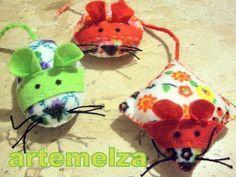 ARTEMELZA -  Arte e Artesanato: Feltro - ratinho | felt - mouse