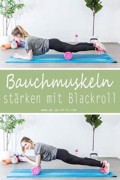 Die 17 besten Blackroll Übungen für zuhause mit Faszienrollen und -ball With the fascia roller you can not only release tension. You can also use it as a training device. For example, to be able to train your abdominal muscles. Fitness Workouts, Yoga Fitness, Slim Fitness, At Home Workouts, Fitness Tips, Fitness Motivation, Workout Tips, Enjoy Fitness, Muscle Fitness