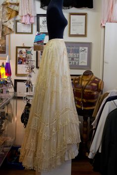 Handmade Victorian Wedding Dress Worn in 1900. $1,000.00, via Etsy.