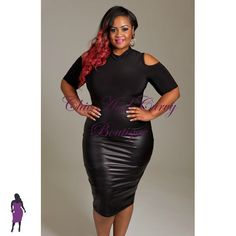 New Plus Size Bodycon Cold Shoulder Dress with Black Upper Half and Black Liquid Lower Half available at: http://www.chicandcurvy.com/bodycons/product/9095-new-plus-size-bodycon-cold-shoulder-dress-with-black-upper-and-black-liquid-lower-half-1x-2x-3x Model: Janna Plus Model MUA: Make Me Blush - Makeup By Jillian Bianca Hair: Hair by Ashelee Photography: Smash Photo Studio
