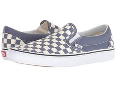 11eda0597f Vans Classic Slip-Ontm Skate Shoes (Checkerboard) Grisaille True White Vans  Classic