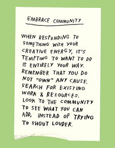 Using Your Power For Good #community