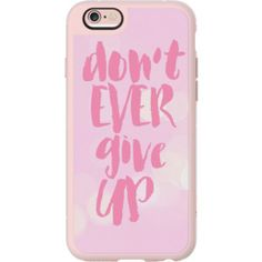 iPhone 6 Plus/6/5/5s/5c Case - Dont Ever Give Up Breast Cancer Awareness