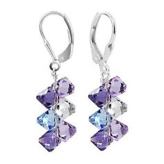 SCER009 Sterling Silver Lavender Blue...  Order at http://www.amazon.com/Sterling-Lavender-Earrings-Swarovski-Elements/dp/B0007NI1QK/ref=zg_bs_3885911_91?tag=bestmacros-20