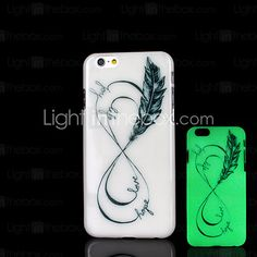 USD $ 2.99 - Phrase Pattern Glow in the Dark Case for iPhone 6 Cover