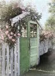 eclectic garden gate