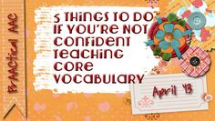 PrAACtical AAC: 5 Things to Do If You're Not Confident Teaching Core Vocabulary. Pinned by SOS Inc. Resources. Follow all our boards at pinterest.com/sostherapy for therapy resources.