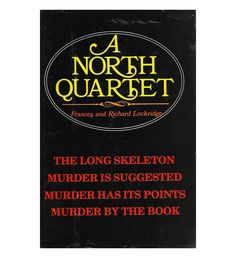 $18.95 A North Quartet by Frances and Richard Lockridge | vintage mystery from the 1960s on Etsy #scottiebooks #booklovers #mysterylovers