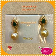 J Gold Jewelry Simple, Gold Rings Jewelry, Jewelry Design Earrings, Gold Earrings Designs, Gold Jewellery, Pearl Jewelry, Gold Earrings For Women, Gold Jhumka Earrings, Gold Bangles Design