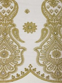 Empire Textiles African Georges - Velvet George WHT - White PRICE - £80.00