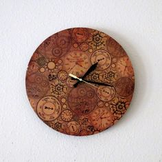 Unique Wall Clock  Home and Living Steampunk Decor  by Shannybeebo, $47.00