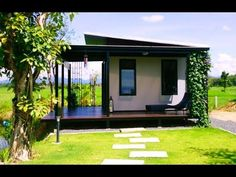 Wooden House Design, Small Wooden House, Bungalow House Design, Small House Design, Tropical House Design, Hut House, Tiny House Cabin, Home Modern, Modern Tiny House