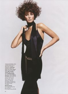 "US Harper's Bazaar March 2002 ""Recession Chic"" Model: Christy Turlington Photographer: Greg Kadel Stylist: Brana Wolf Hair: Jimmy Paul Makeup: Gucci Westman Manicure: Bernadette Thompson"