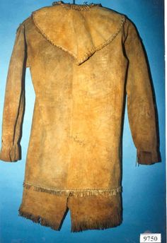 Seminole man's deerskin frock coat, ca 1830s, from the National Museum of the American Indian