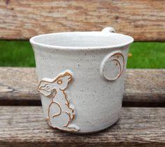 Handmade stoneware ceramic 'Moon Gazing by ClairePorterCeramics