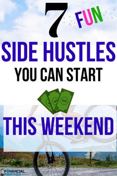 Here are 7 amazing side hustle ideas you can start right away! Begin making money with these side hustle ideas you can do from home starting this weekend! Financial Panther has these tried and true money making ideas for making extra cash! Make Money Fast, Make Money Blogging, Make Money From Home, Way To Make Money, Saving Money, Money Tips, True Money, Finance Blog, Finance Tips