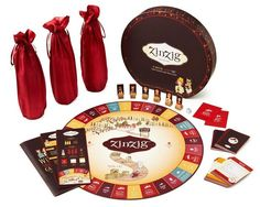 This ZinZig Wine Game adds a clever twist to the classic wine tasting party.