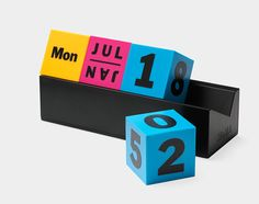 cmyk perpetual calendar {objects of desire}