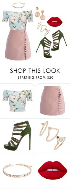 """""""Sin título #645"""" by malvinacabj on Polyvore featuring moda, Miss Selfridge, Chicwish, Topshop, Anne Klein, Lime Crime y Pasquale Bruni"""