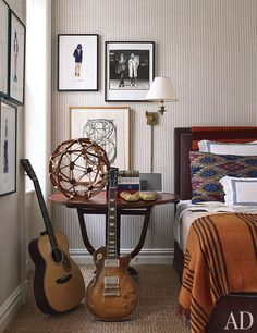 sophisticated boys room.  Home of Trey and Jenny Laird by Jeffrey Bilhuber, seen in AD 02/12