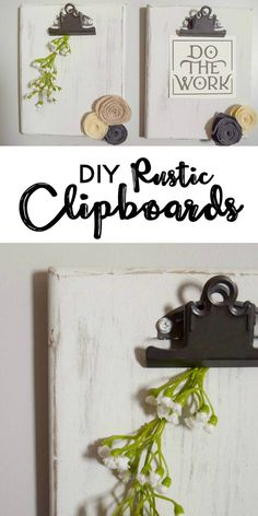 Rustic DIY Clipboard
