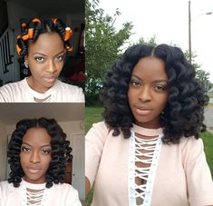 Gorgeous flexi rod set on Natural hair models – Hair Models-Hair Styles Natural Hair Inspiration, Natural Hair Tips, Natural Hair Styles, Roller Set Natural Hair, Braid Out Natural Hair, Hair Shrinkage, Blowout Hair, Relaxed Hair, Afro Hairstyles