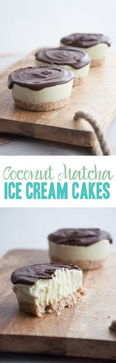 Vegan Coconut Matcha Ice Cream Cake #vegan #glutenfree #matcha #icecreamcake| ElephantasticVegan.com