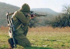 Russian VDV Airnorne sniper armed with Mosin Nagant 91/30 PU rifle | by Za Rodinu