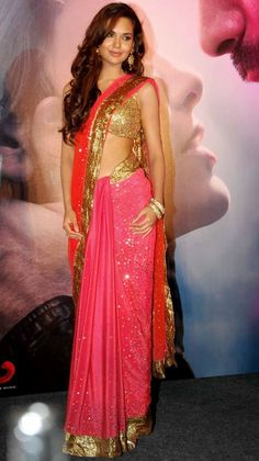 pink and gold colored sari - Google Search
