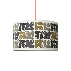Add bold geometric prints to any room with this Multi Acorn Cup lampshade from Orla Kiely. Crafted from a linen/cotton blend, this shade features the Acorn Cup design in rich shades of olive green,...