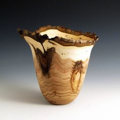 Bark Edge Butternut Wood Turned Bowl  3 by JLWoodTurning on Etsy