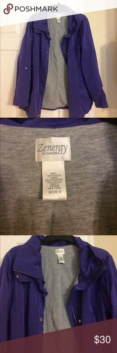 Zenergy by Chicos jacket In great condition! Great jacket! Chico's Jackets & Coats