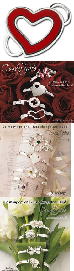 Other Wedding Jewelry 164311: Lestage Convertible Bracelet Clasp - Love Open Heart With Red Enamel -> BUY IT NOW ONLY: $59 on eBay!