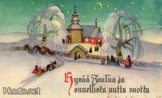 Martta Wendelin Joulukirkko (H.H. 81 R4) - 35 € - Signeeratut taiteilijakortit - Postikortit - Keräily - Huuto.net - (avoin)