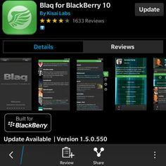 Blaq for BlackBerry 10 Updates  to v1.5, Completely Rebuilt - http://blackberryempire.com/blaq-for-blackberry-10-updates-to-v1-5-completely-rebuilt/ #BlackBerry #Smartphones #Tech